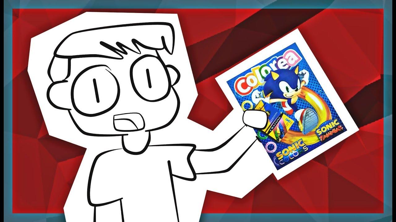 Libro Para Colorear De Sonic