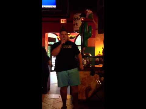 My bro at karaoke