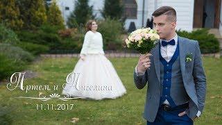 Свадебный клип Артем и Ангелина (Дмитров) 11.11.2017