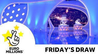The National Lottery 'EuroMillions' draw results from Friday 18thOctober 2019