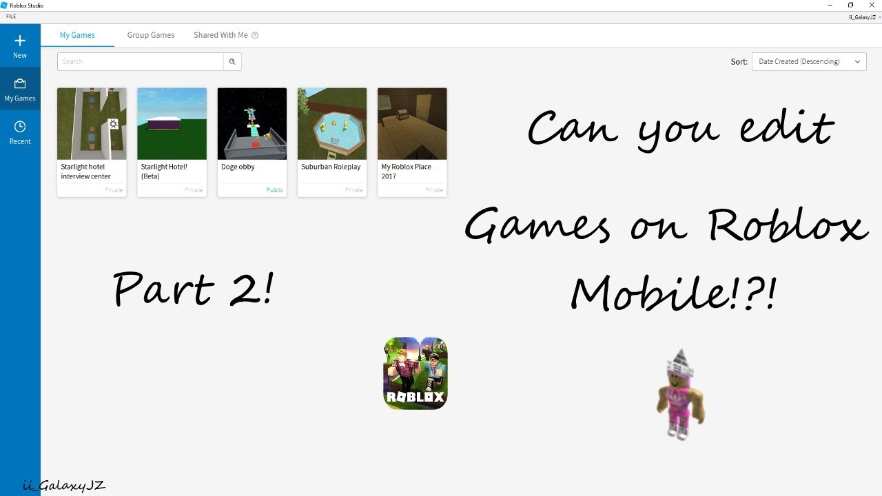 Can You Edit Games On Roblox Mobile Part 2 Youtube - roblox game only works in editor