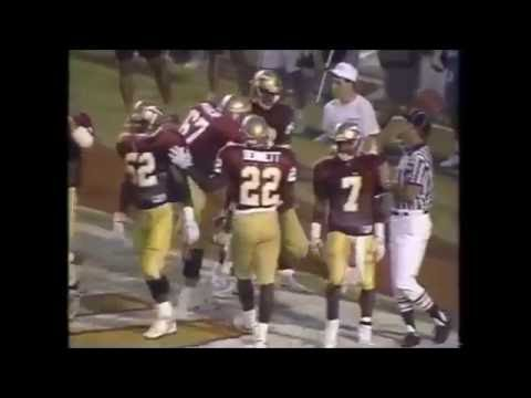Florida State touchdown passes vs Tulane 1991