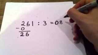 Divisjon av flersifret tall