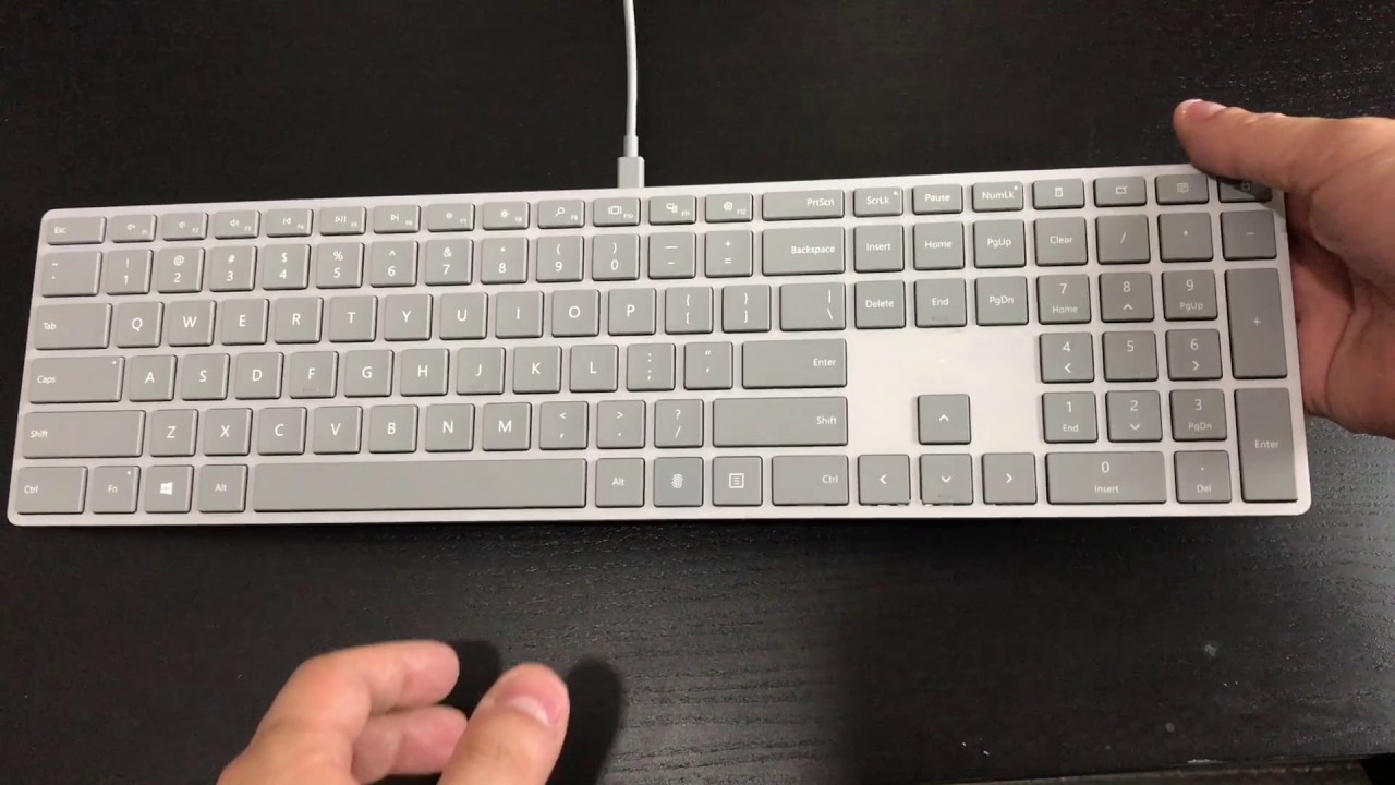 88d121096fe Microsoft Modern Keyboard with Fingerprint ID unboxing - YouTube
