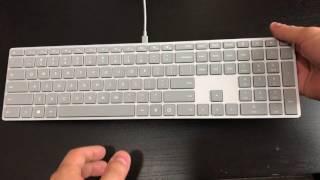 Microsoft Modern Keyboard with Fingerprint ID unboxing
