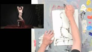 Loosening Up When Painting a Figure in Acrylics