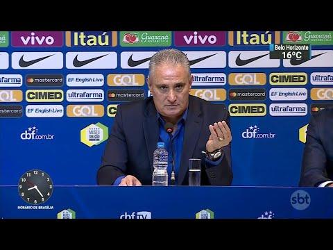 Tite faz primeira convocação da Seleção após Mundial da Rússia | SBT Brasil (17/08/18)