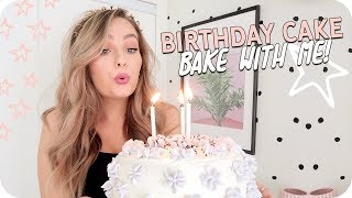 Birthday Cake Bake with Me! Earl Grey Lavender Cake!