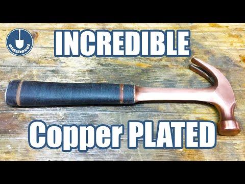 Hammer Restoration & Customization - Copper Electroplated & Carhartt Micarta