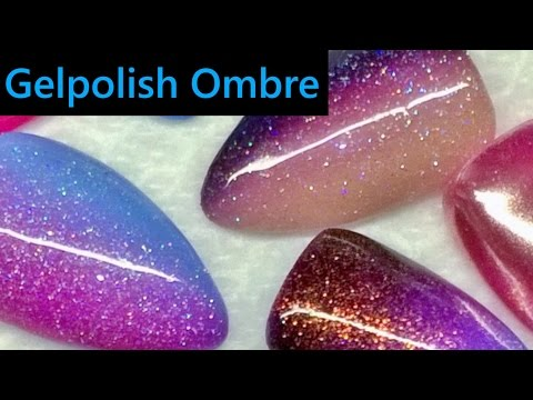 Easy Ombre nails with gel polish