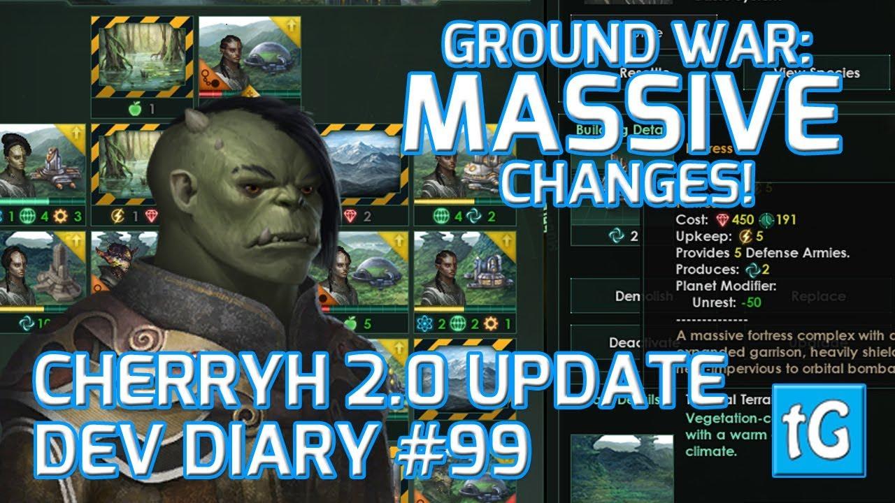 Stellaris Dev Diary #99 – Ground Combat & Army Rework - Cherryh 2 0 Update  (2018), Text & Talk