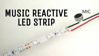 Music Reactive Led Strip | How to make music reactive 12v led strip using one MOSFET