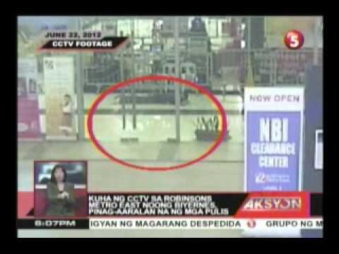 kuha sa cctv sa robinsons metro east noong biyernes, pinag-aaralan na ng mga pulis