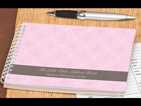 pretty in pink address book personalised address books youtube