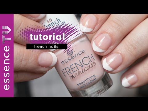 french nails manicure tutorial 2017