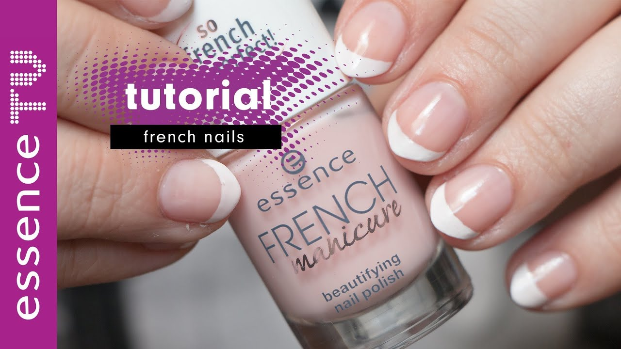 french nails tutorial deutsch f r anf nger french manicure kurze n gel i essencetv youtube. Black Bedroom Furniture Sets. Home Design Ideas