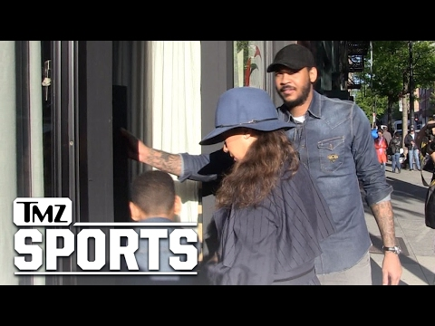 CARMELO AND LALA ANTHONY WE ARE STILL FAMILY Do Mother's Day Together | TMZ Sports