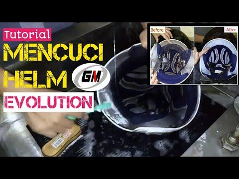Cara Mencuci Helm Dijamin Bersih Wangi Gm Evolution Youtube