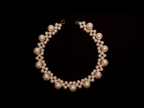 How To Make Designer Pearls Necklace | How Make Pearls Necklace | DIY | Chokar |Home Made Tutorial