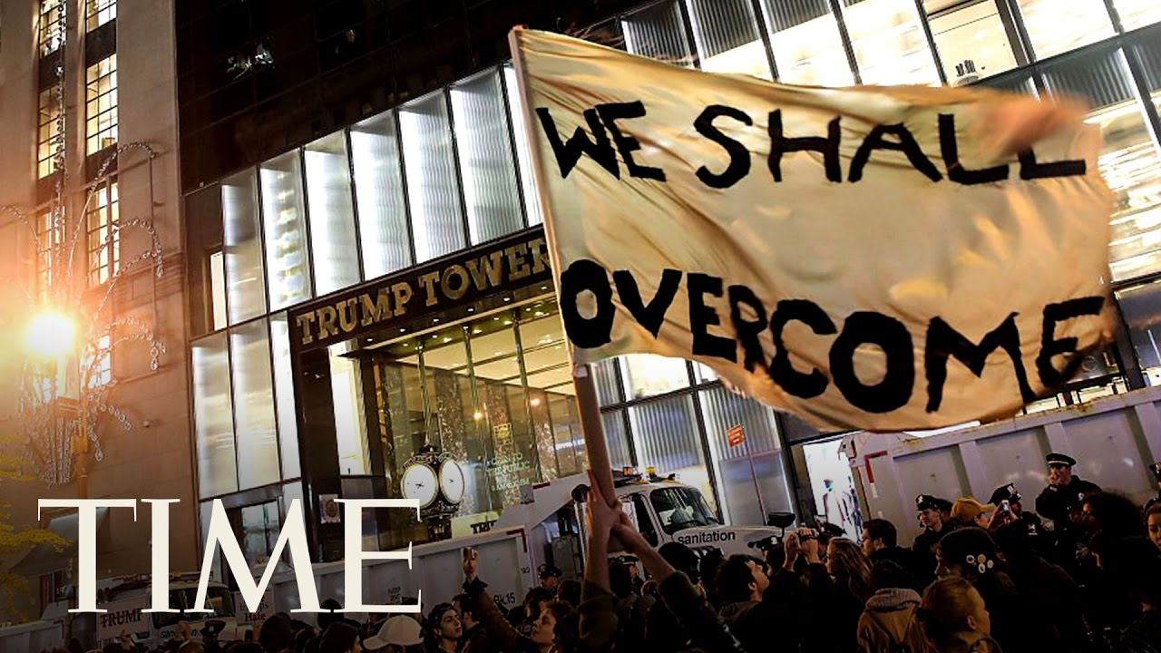 Watch Anti-Trump Protest At Trump Tower NYC In VR | 360 Video | TIME