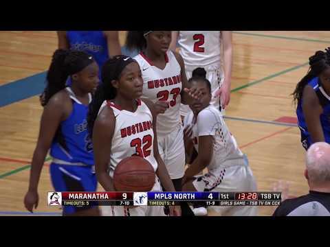 High School Girls Basketball: Maranatha Christian Academy vs. Minneapolis North