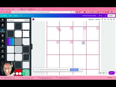 How To Create A Printable Monthly Calendar Using Canva Part One