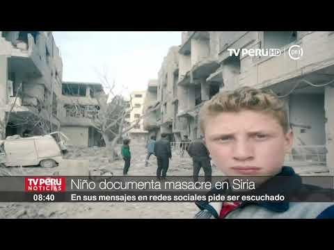 Joven de 15 años registra con su teléfono la masacre en Siria