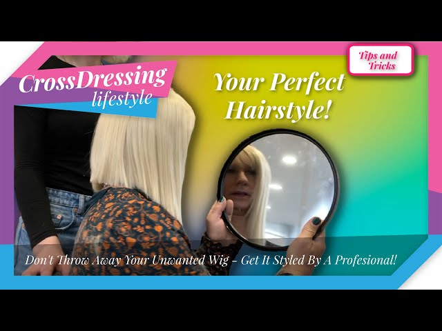 Crossdressing - Wig styling breed new life into a wig   Cutting and restyling a long length style