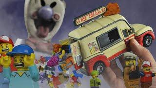 Кастомная фигурка и фургон мороженщика построенные по мотивам игры Horror Game Ice Scream