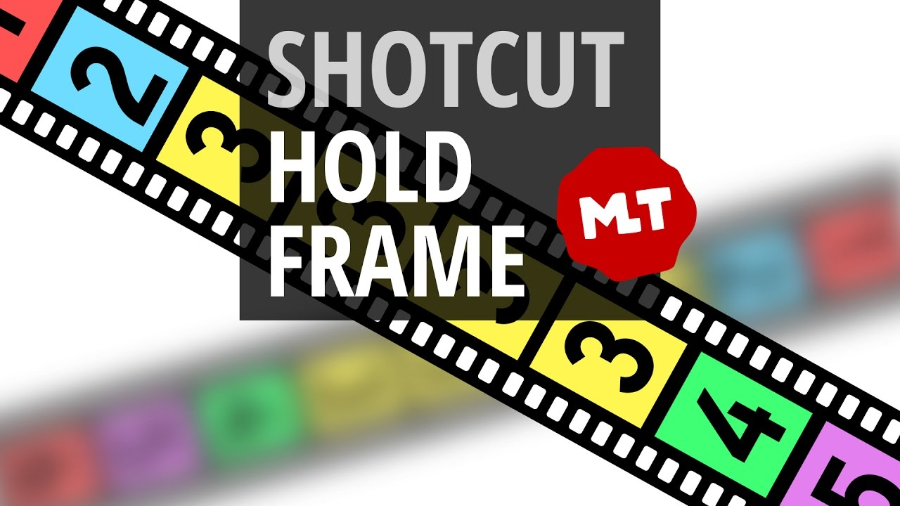 Pause Video Or Holdfreeze Frame In Shotcut Youtube