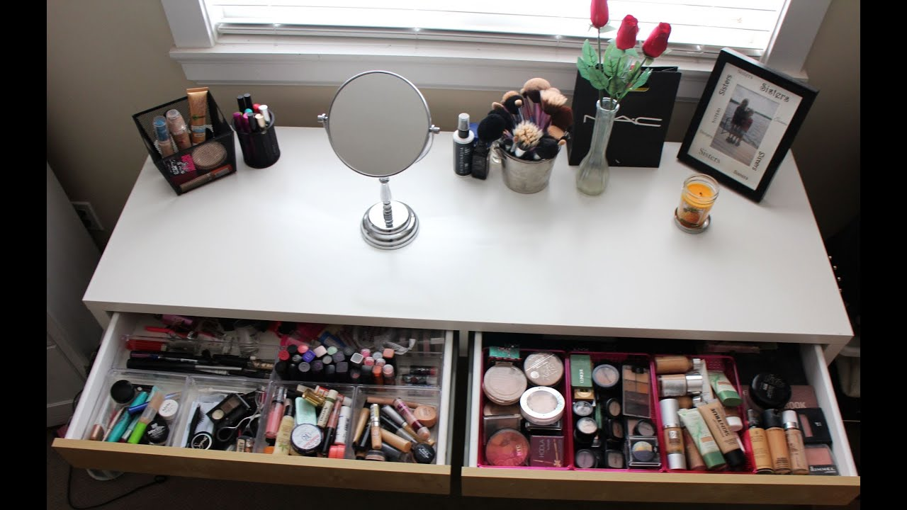 How I Store My Makeup - YouTube