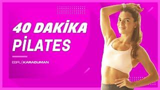PİLATES | Tüm vücudu sıkılaştıran 40 dakika pilates egzersizi!