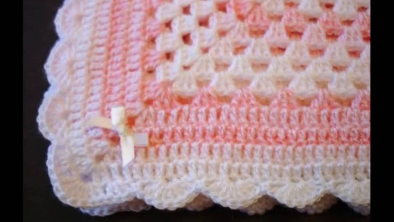 mantas para bebe tejidas crochet parte 1 - YouTube
