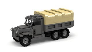 Lego WWII Deuce and a Half CCKW Instructions
