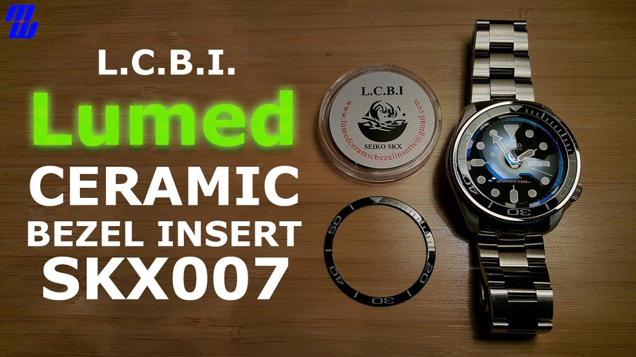 SKX007 Lumed Ceramic Bezel Insert - Installation and Lume Check