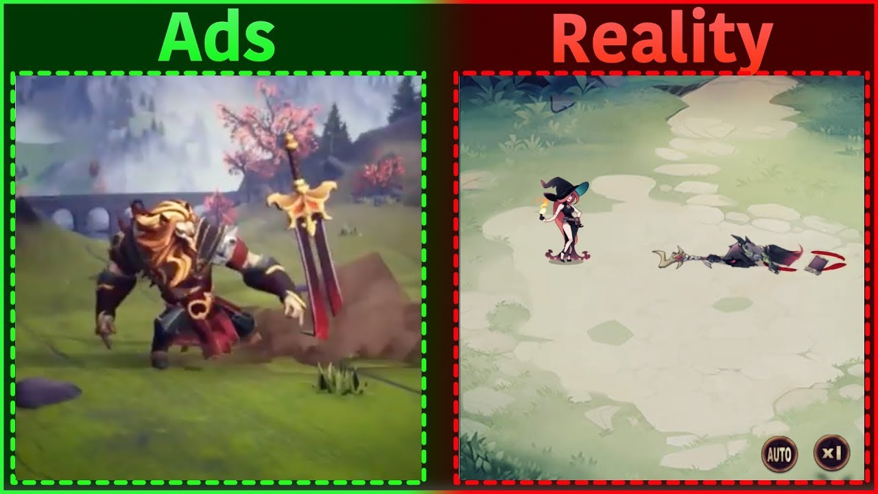 Mobile Game Ads Vs. Reality 5 - YouTube