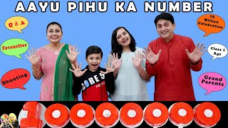 AAYU PIHU KA NUMBER | 10 Million Celebrations | Questions and Answers | Aayu and Pihu Show