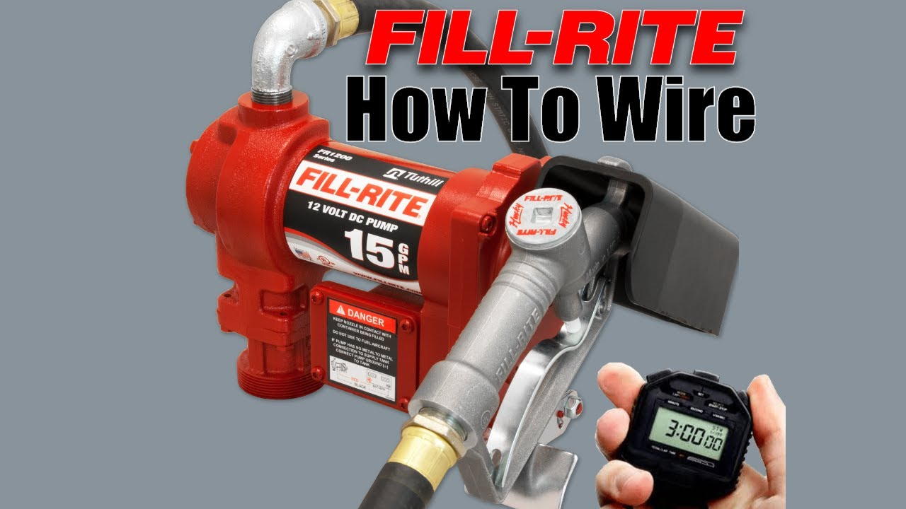 How To Wire Fill Rite Fuel Transfer Pump Youtube