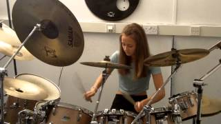 Arctic Monkeys Brianstorm Ella Hall Drum Cover