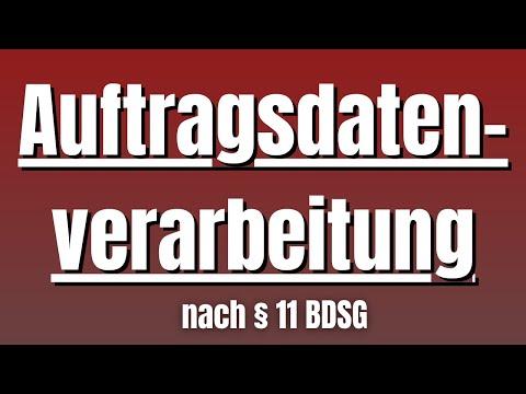 Auftragsdatenverarbeitung nach § 11 BDSG