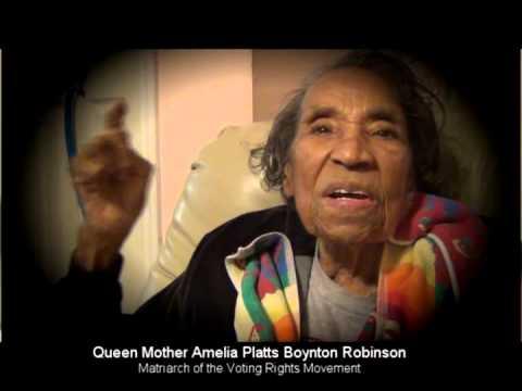 Amelia Boynton Robinson on Nelson Mandela