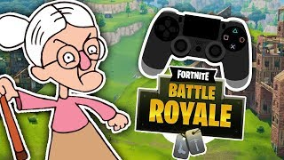 ANGRY GRANDMA GETS MAD IN FORTNITE PS4! *FUNNY* (Fortnite Funny Moments)