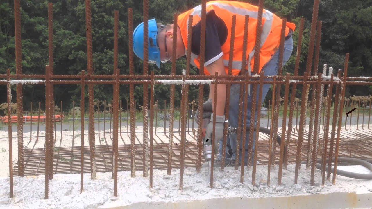 Beroemd Beton weghakken met kleine bikhamers - YouTube GT56