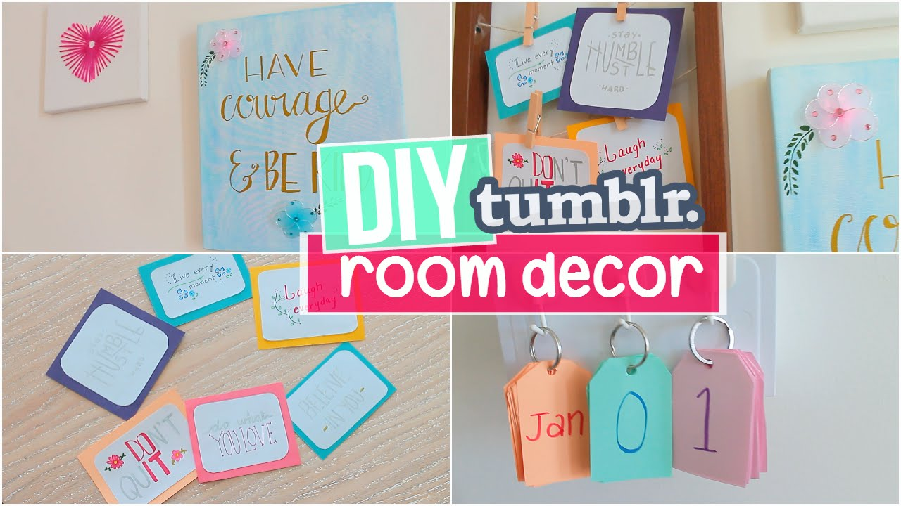 diy tumblr inspired room decor easy affordable ideas 2016