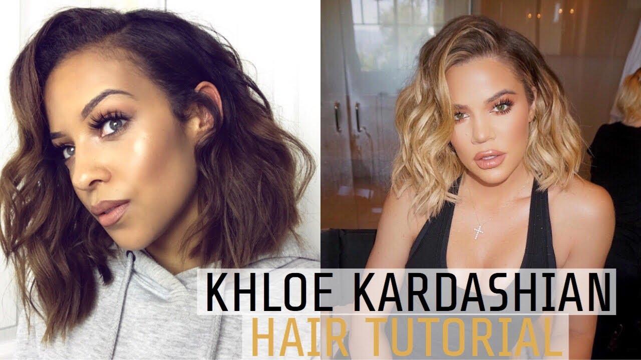 Khloe Kardashian Inspired Beach Waves Hair Tutorial Youtube