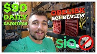 Obelisk SC1 Review | Earning $90 a Day | ASIC Blake2b Siacoin Miner
