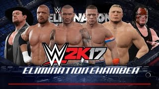 WWE2K17 6 MAN ELIMINATION CHAMBER MATCH #WWECHAMBER