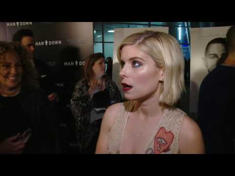 Man Down LA Premiere  Kate Mara interview Now Showing in theaters