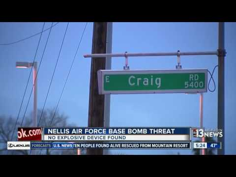 Nellis Air Force Base says bomb threat over