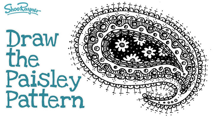 how to draw the paisley pattern easy step by step